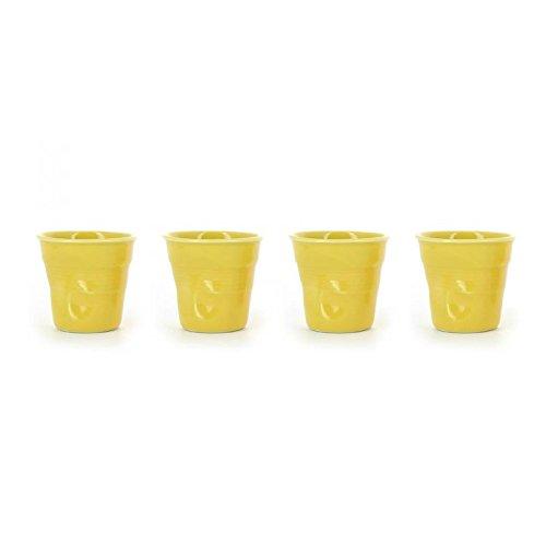 REVOL 639294/4 RGO0118 Set of 4 Cappuccino Crumpled Tumblers 6.25oz Seychelles ()
