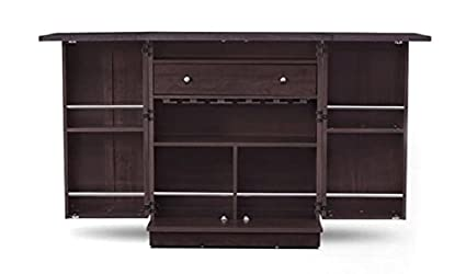 Ringabell Barley Solid Wood Bar Cabinet (Mahogany Finish)