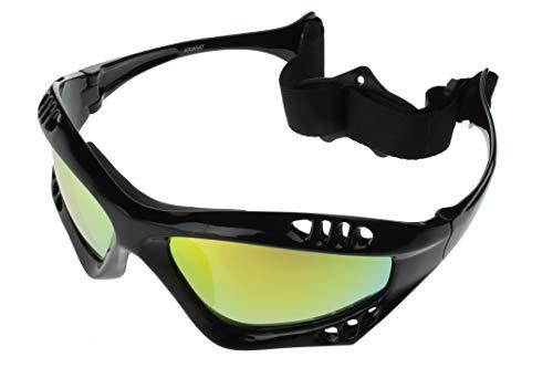 bb9ffca392 G G Polarized Water Sport Sunglasses Surfing Kiteboarding Jetski  (Black Gold)
