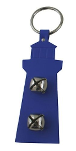 Leather Lighthouse Bell Hanger ROYAL blueE by Auburn Leathercrafters