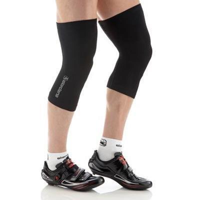 (Giordana FR-C Seamless Cycling Knee Warmers - GI-W1-KNEW-BCLW-BLCK (Black - M/L) )
