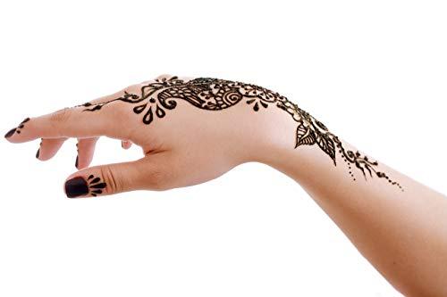 Jual Henna Tattoo Stencils Pack Of 8 Henna Tattoo Kit 4