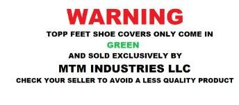 Disposable Shoe Covers By Topp Feet: Extra Thick Waterproof CPE Slip-On To Protect Feet, Shoes And Boots From Rain, Snow And Mud, Non-Slip One Size Fits All With Hand Sewn Elastic Stretch, Pack Of 100 by Topp Feet (Image #2)