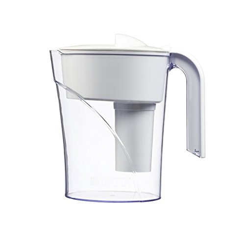 Brita 6-Cup Classic Water Filter Pitcher, White, Asset 16 oz. Nalgene Green Water Bottle