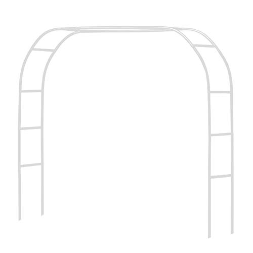 Halloween Wedding Entrance (Metal Pergola Arbor,Wedding Arch 7.5 Feet Wide x 6.4 Feet High or 4.6 Feet Wide x 7.9 Feet High,Assemble Freely 2 Sizes,Lightweight Wide Wedding Garden Arbor Bridal Party Decoration White)