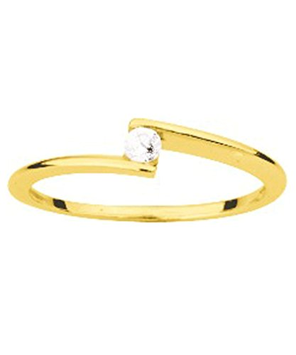 OR by Stauffer - Bague or jaune 750/1000, diamant by Stauffer
