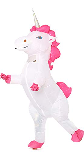 Inflatable Unicorn Costume Pony Horn Horse Suit for