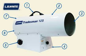 L.B. White Tradesman 125 LP Portable Forced Air Heater - 70-125K (Btu Lb Propane)