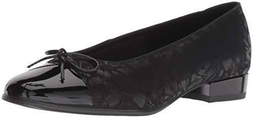 ARA Women's Bel Ballet Flat Black Dragonfly/Patent Toe 3 Narrow UK (5.5 US)