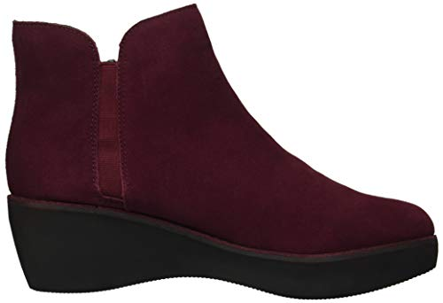 Kenneth Cole REACTION Women's Prime Platform Bootie with Side Zip Ankle Boot, Burgundy