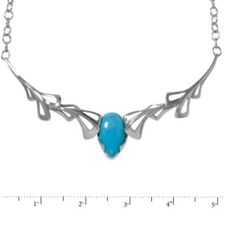 Sterling Silver Turquoise Statement Necklace