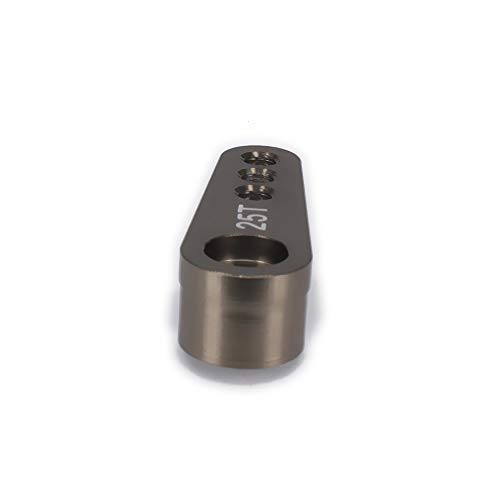 Titanium 2pcs Steering Servo Arm Horn 25T Kits Metal Parts for 1//8 1//10 RC Hobby Model Car//Boat Futaba HSP HPI Wltoys Himoto Redcat Traxxas Axial