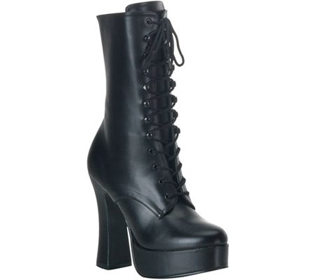 Pleaser Women's Electra-1020/B/PU Boot,Black Polyurethane,10 M US