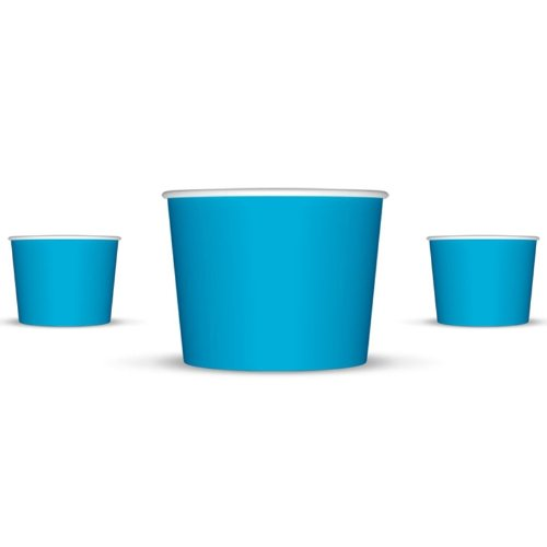 4 oz Paper Hot/Cold Ice Cream Cups - 100ct (Blue)