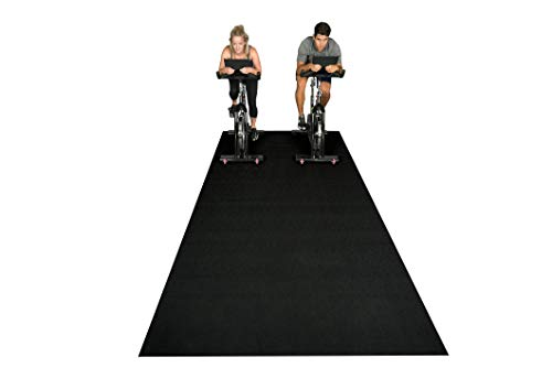Square36 New Large Fitness Equipment Mat 10 Ft x 6 Ft. Made in Germany – Highest Grade Materials. Our Gym Flooring Mat Fits Several Fitness Machines -Ellipticals, Treadmills, Rowers.