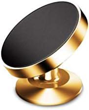 360度の回転磁気携帯電話のホールダー、空気出口車の吸引のコップの携帯電話のホールダー (色 : Gold-a)
