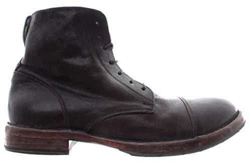 MOMA Scarpe Uomo Ankle Boots 56801-2B Cusna TMORO Ebony Vintage Made in Italy