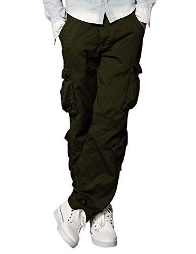 Match Men's Wild Cargo Pants(Army Green,32)