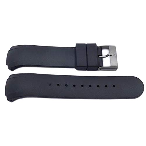 Genuine Swiss Army Black Rubber Watch Strap 14mm ST5000