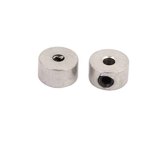 (uxcell 2Pcs RC Airplane Plane Landing Gear Wheel Stop Set Collar 2.1mm Shaft Hole Dia.)
