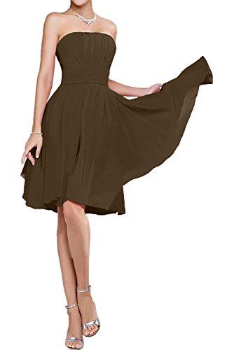 para Vestido marrón Topkleider trapecio mujer q6nxFHx4