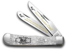 ケースXXホワイトパールCorelon World 's Greatest Dad 1 /600トラッパーポケットナイフナイフ B077S613K9
