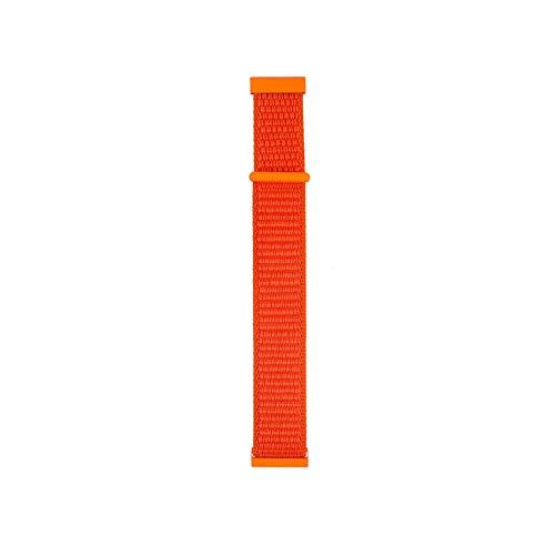 - TYewa98556 Sports Nylon Magic Tape Wrist Strap Replacement for Samsung Galaxy Watch Active - Orange