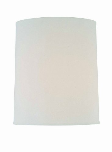 Lite Source CH1186-15 15-Inch Lamp Shade, Off-White
