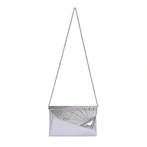 femme Pochettes Bag Clutch silver Vavabox 1P6twxW