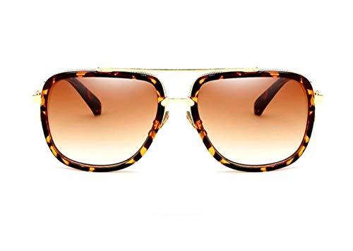 de protectoras para aire Guay de Gafas leopardo Moda Hombres viajar de sol Mujeres Gafas al sol libre Light para Huyizhi UV400 Brown conducir PdwxTnOF6n