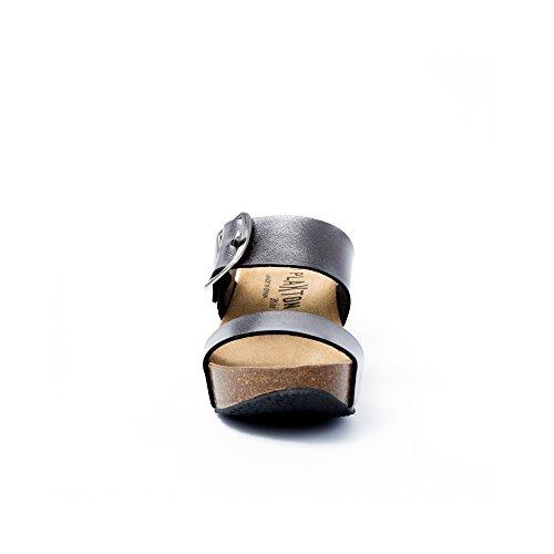 PLAKTON Women's Clogs & Mules Silver Ywjgfv