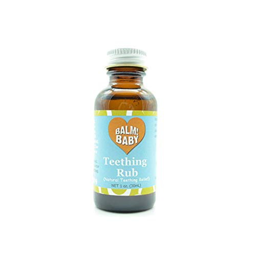 BALM! Baby Teething RUB! Natural Teething Relief Safe | Vegan | Cruelty Free - Glass Bottle (1 Ounce)