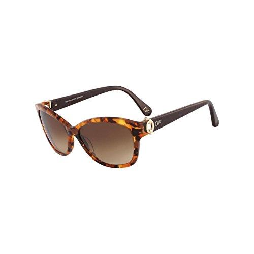 Diane Von Furstenberg Womens Ashley Logo Cat Eye Sunglasses Brown - Eye Logo Cat