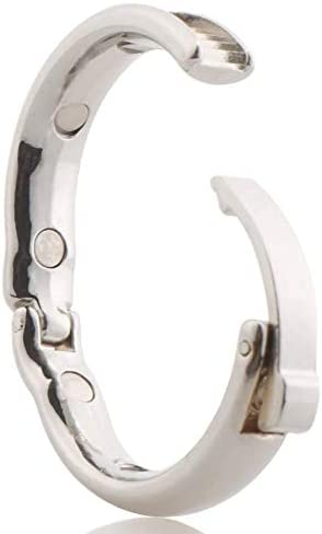 Roo-16HAO Taille r/églable 27-30 mm Anneau de r/écup/ération en Acier Inoxydable pour Homme 651