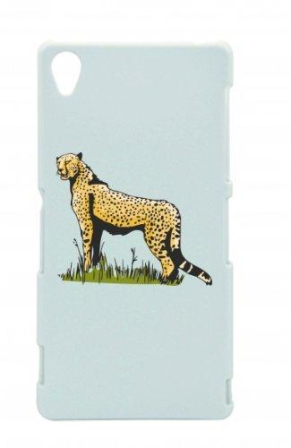 """Smartphone Case Apple IPhone 5C """"Leopard stolz auf Wiese Raubtier Dschungel Afrika Wildnis"""" Spass- Kult- Motiv Geschenkidee Ostern Weihnachten"""