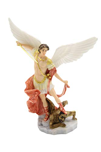 - Vittoria Collection Saint St. Michael The Archangel Italian Statue Sculpture Figurine Guardian Angel Protector Protection Slaying Demon Made in Italy