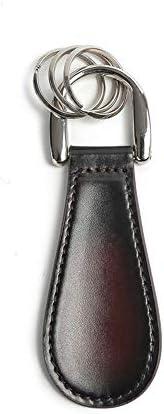 靴べら 小レザー靴べらは、ペンダント11.5x4x0.6cmハンギング使いやすく持ち運びが簡単です ハンドルシューホーン (色 : Multi-colored, Size : 11.5x4x0.6cm)