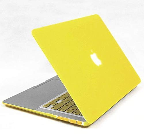 Rubberized Matte Case Cover Shell For MacBook Apple MacBook Air 13 13 3  Yellow
