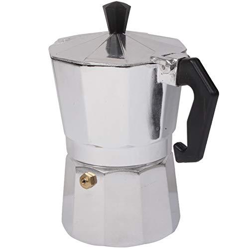 Portable Coffee Tea case Aluminum Moka Coffee Maker Espresso Coffee Pot(Silver), Portable Coffee Tea case
