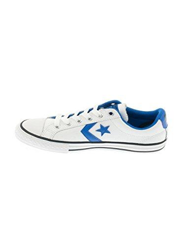 Zapatilla Converse Star Player Leather Blanca/Azul Blanco