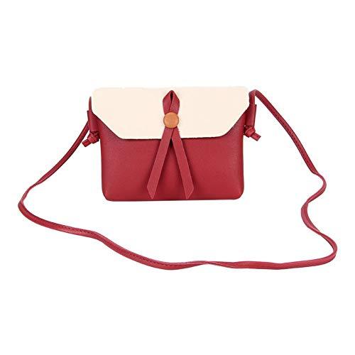 Red Crossbody Shoulder Bag PU Women Bag Envelope Wine Domybest Messenger Bags Mini Leather qS47wU