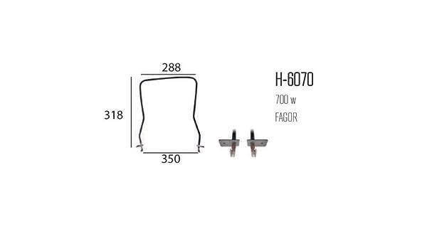 REPORSHOP - Resistencia Horno FAGOR Grill 700w: Amazon.es: Hogar