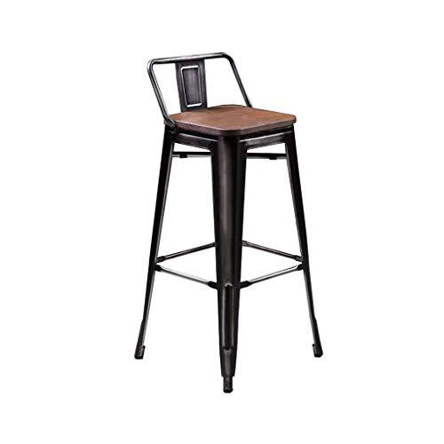 Super Amazon Com Bar Chair Bar Stool Metal Backrest Tall Chairs Machost Co Dining Chair Design Ideas Machostcouk