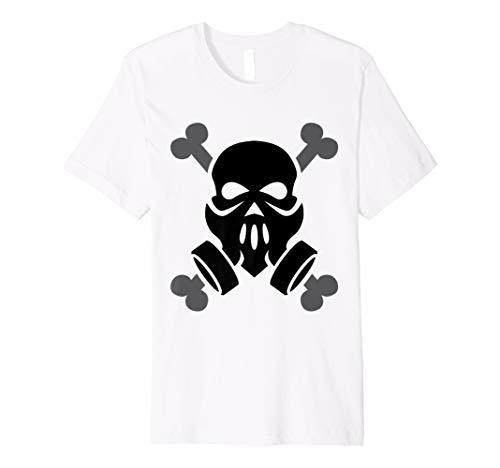 Dubstep Gas Mask Skull with Crossbones TShirt friends Gift ()
