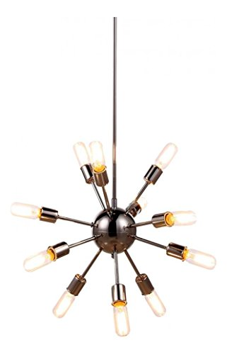 Polished Nickel Cork 21in. Wide 12 Light Chandelier from the Urban Classics Collection ()
