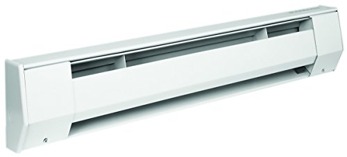 King 3K2407BW 750-563-Watt 240/208-Volt 3-Foot Baseboard Heater, Bright White (Baseboard 240 Heater)