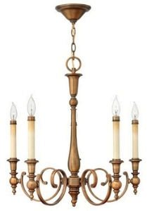 Hinkley 3625BR Traditional Five Light Foyer from Yorktown collection in (Traditional Foyer Lights Hinkley Lighting)