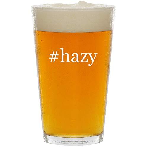 #hazy - Glass Hashtag 16oz Beer Pint