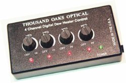 Thousand Oaks Four-Channel Digital Dew Heater Control Unit - Requires Heater Band/s.