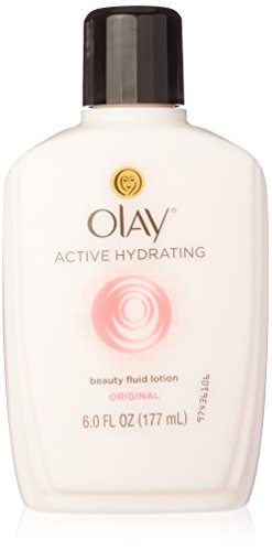 Olay Active Hydrating Beauty Lotion to Reduce Fine Lines and Wrinkles, Original - 6 Oz (Pack of 2)